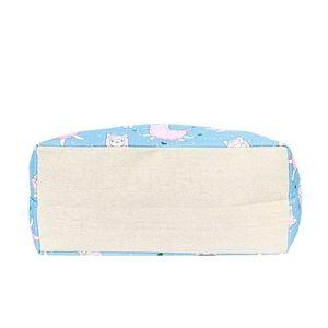 Bags - Pink Llama Blue Tote Bag